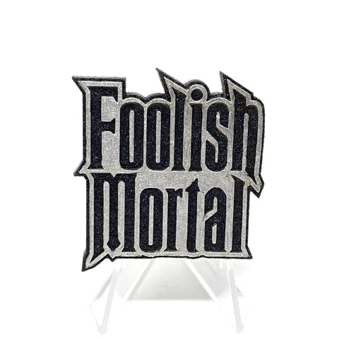 Foolish Mortal (Wood Pin) - Black/Metallic Silver | Wood Pins Artistic FlavorzArtistic Flavorz