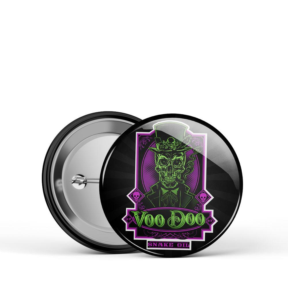 VooDoo Snake Oil Skull Button