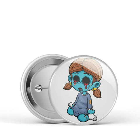 Zombie Girl Button