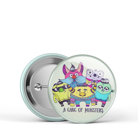 A Gang of Monsters Button