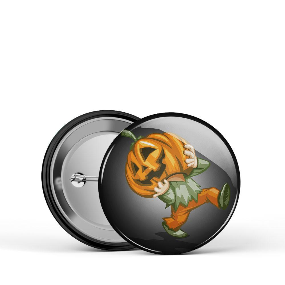 Pumpkin Kid Button