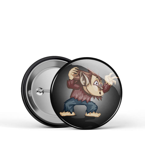 Wolf Kid Button