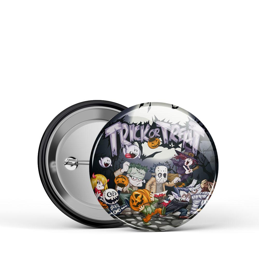 Trick or Treat Kids Button