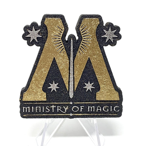 Ministry of Magic (Wood Pin) - Black/Gold/Silver