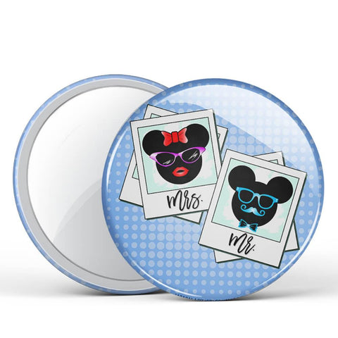 Mr & Mrs Mouse Button Mirror