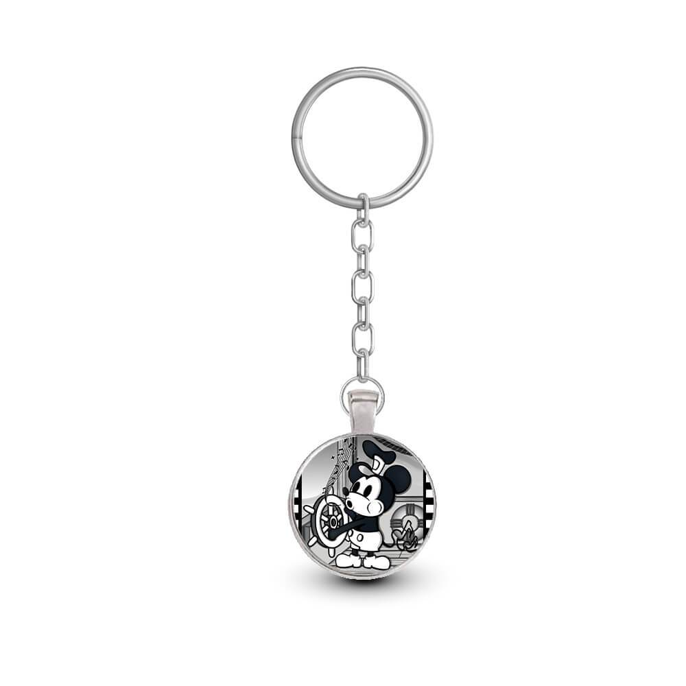 Small Steamboat Willie Framed Keychain