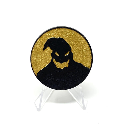 Oogie Boogie Circle (Wood Pin) - Black and Gold | Wood Pins Artistic FlavorzArtistic Flavorz