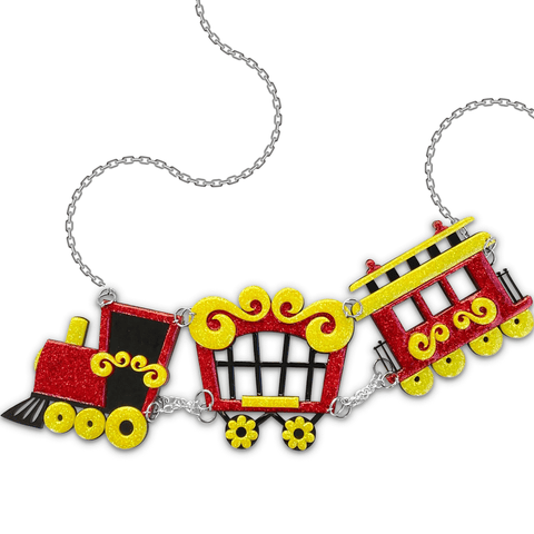 Circus Train Embellished Statement Necklace