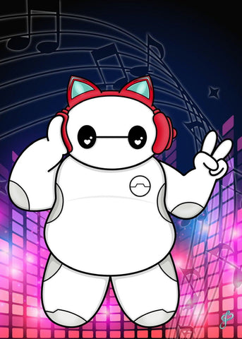 Musical Baymax - 5x7 Art Print by Jo2