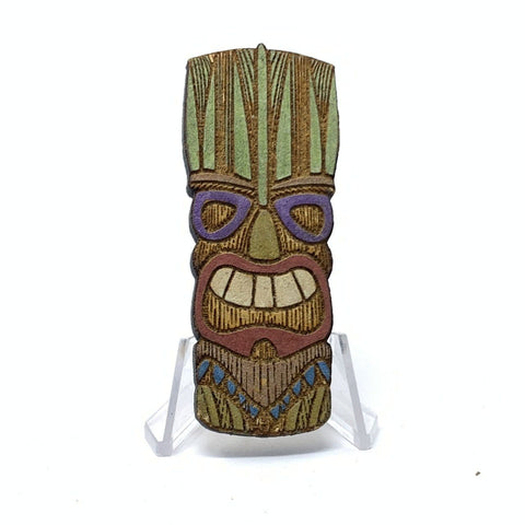 Tiki Head (Wood Pin)