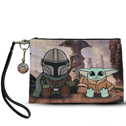 Mandalorian and the Child Wristlet Bag