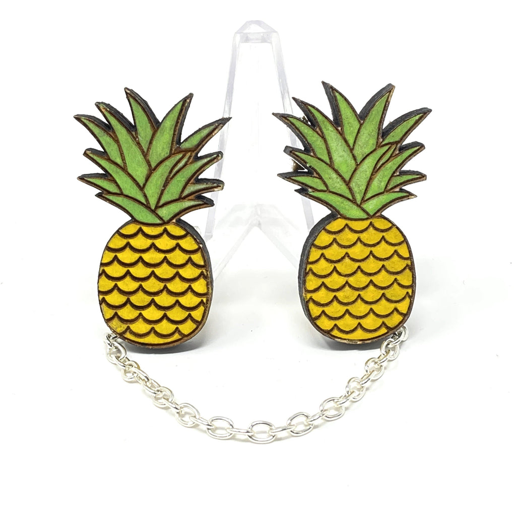 Pineapple Sweater Clips (Wood Pins)