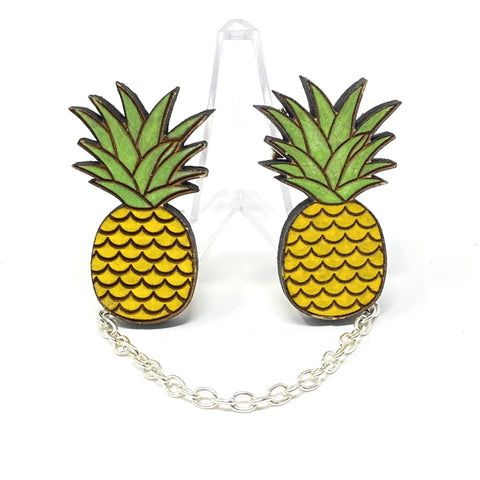 Pineapple Sweater Clips (Wood Pins) | Wood Pins Artistic FlavorzSuperfluous Designs