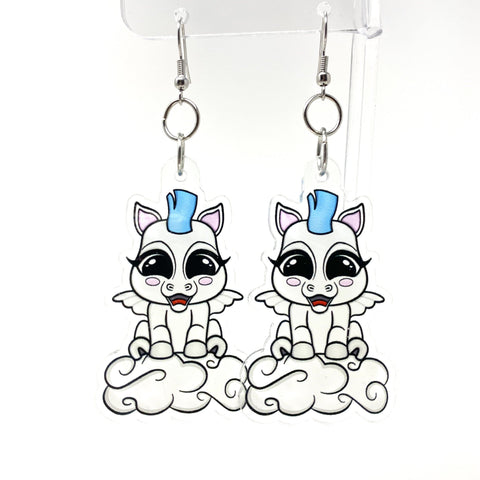 Baby Pegasus Acrylic Earrings