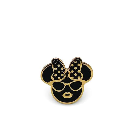 Oh So Fancy Girl Mouse Enamel Pin - Artistic Flavorz
