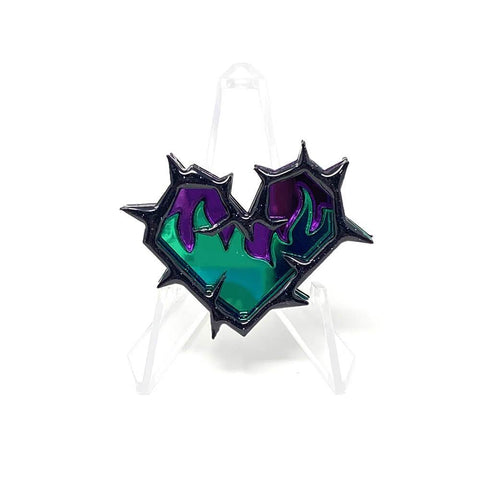 Thorn Heart Fire Acrylic Brooch