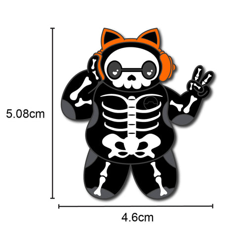 DJ Skelly Max Enamel Pin