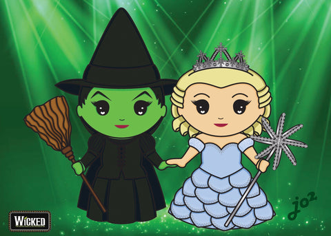 Elphaba and Glinda  - 5x7 Art Print by Jo2 | Art Prints Artistic FlavorzArtistic Flavorz