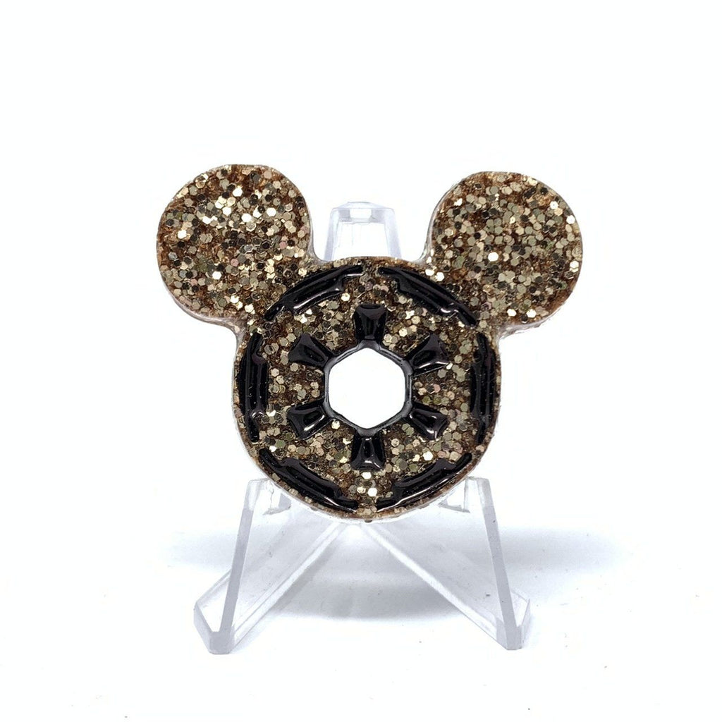 Mickey Star Wars Empire Resin Pin - Champagne Gold