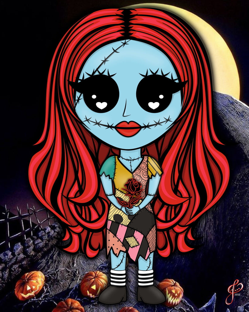 Sally - 5x7 Art Print by Jo2