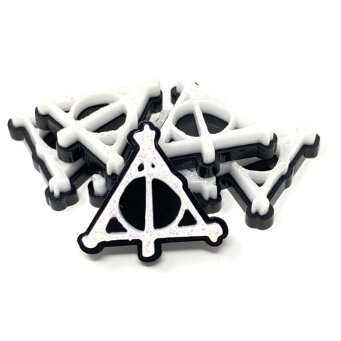 Deathly Hallows Stylized Acrylic Pin | Acrylic Pins Artistic FlavorzArtistic Flavorz