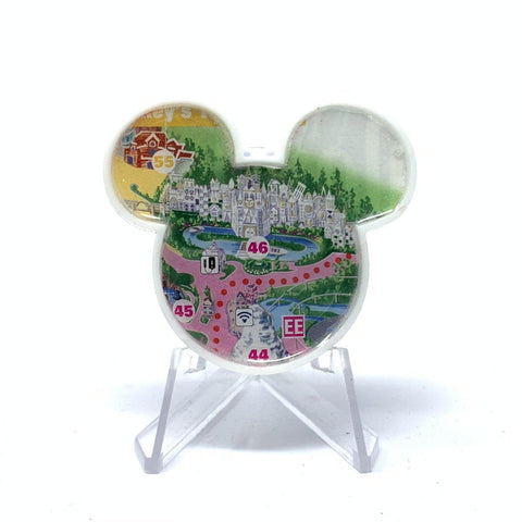 Mouse Map Acrylic Brooch - Small World Map