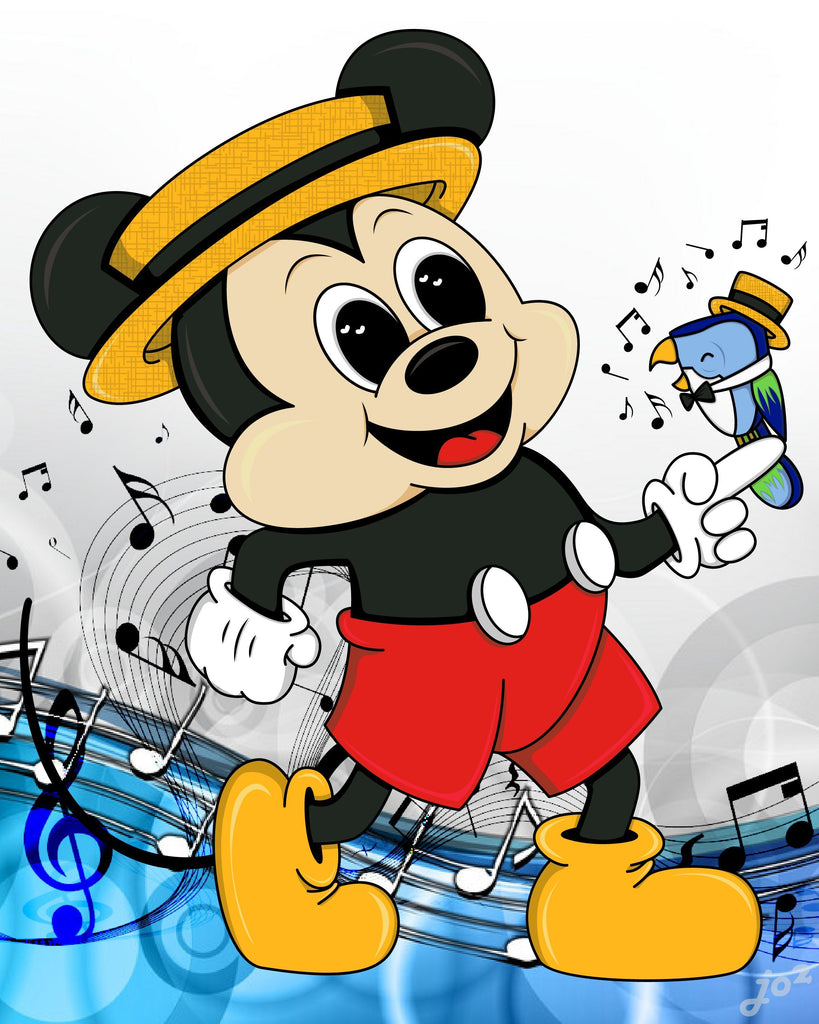 Musical Mickey - 5x7 Art Print by Jo2