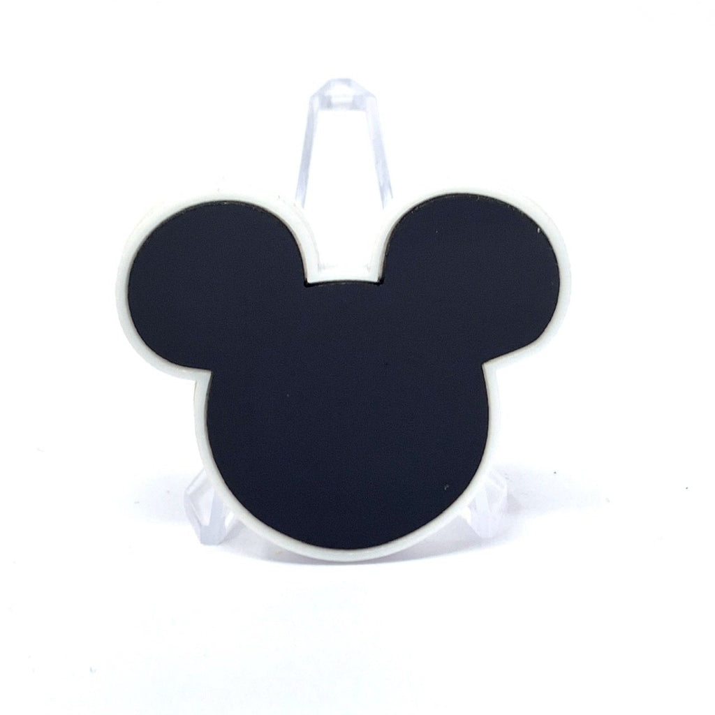 Mouse Acrylic Brooch - Black and White
