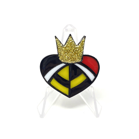 Queen of Hearts Acrylic Brooch