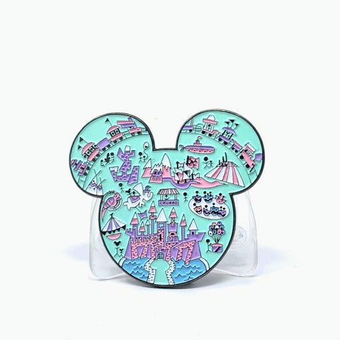 Mouse Map Enamel Pin