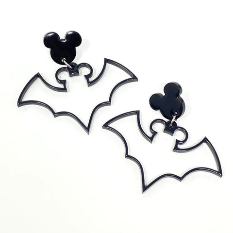 Halloween  Mickey Bat Earrings Acrylic