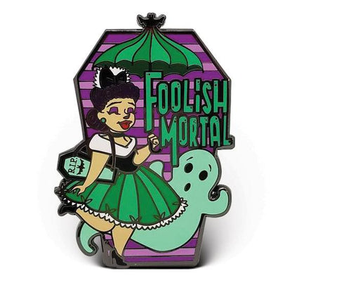 Foolish Mortals Enamel Pin (Dapper Dolls)