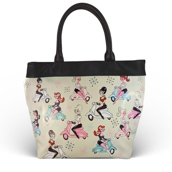 Scooter Girls Tote Bag
