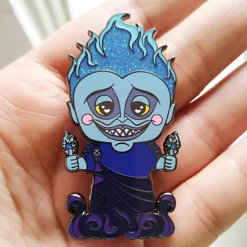 Blue Flame Underlord Enamel Pin