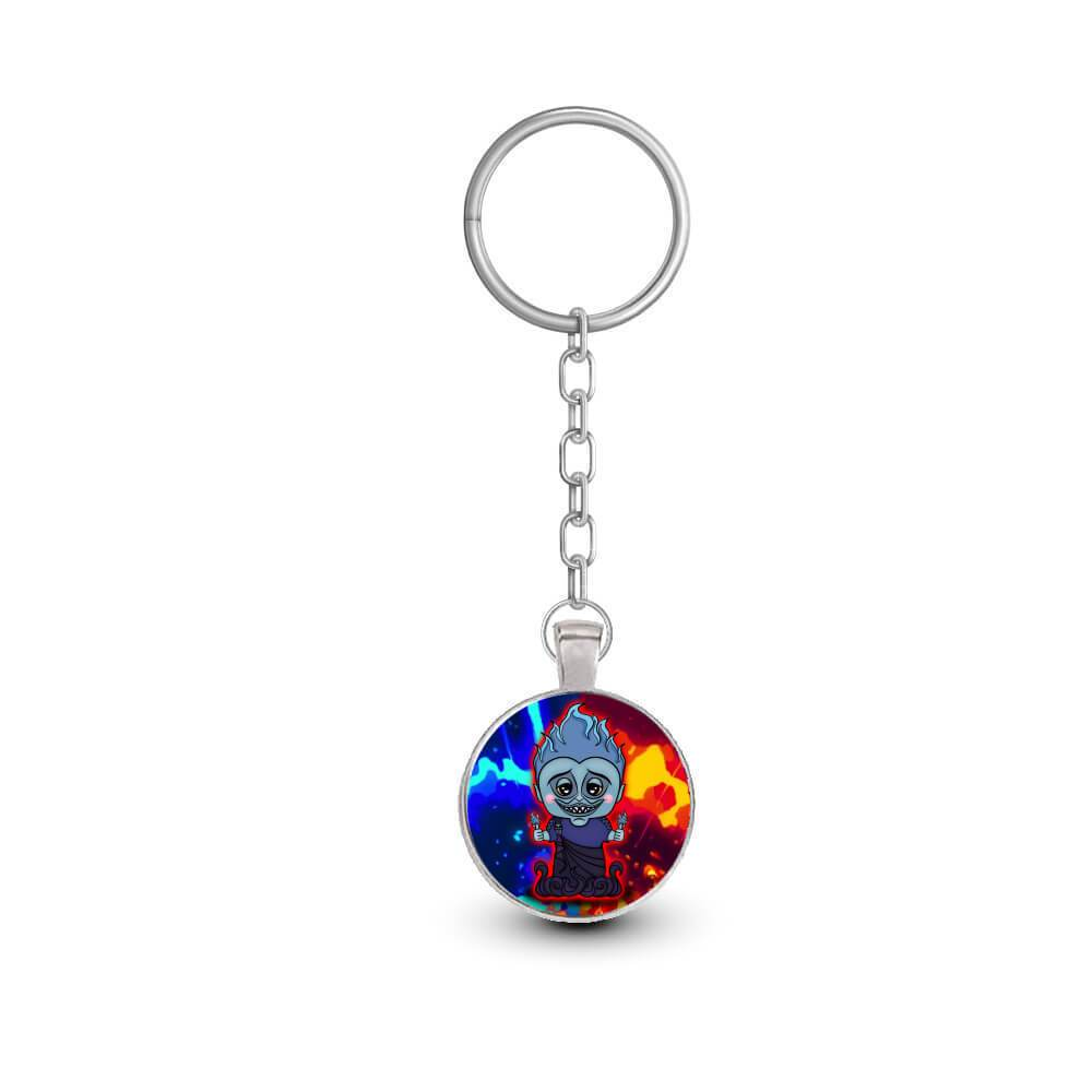 Small Blue Flame Underlord Framed Keychain