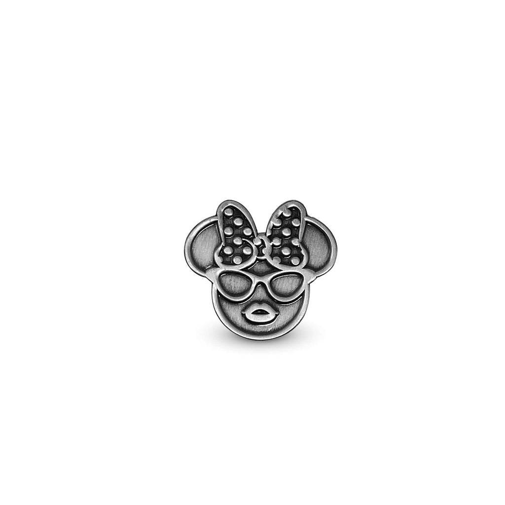 Oh So Fancy Metal Girl Mouse Enamel Pin - Ant. Silver