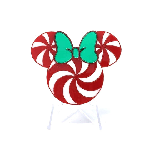 Holiday Flavorz Acrylic Brooch - Large Mouse Peppermint