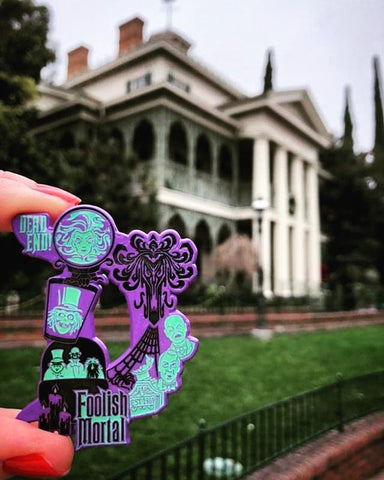 Haunted Mansion D Enamel Pin