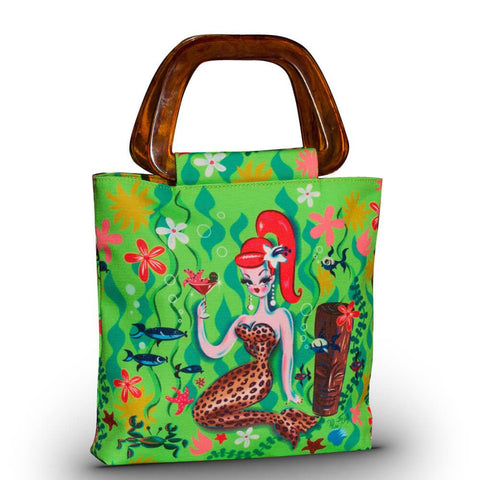 Leopard Mermaid Tini Tiki Tote Bag