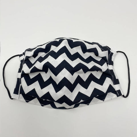 Face Mask - Black/White ZigZag