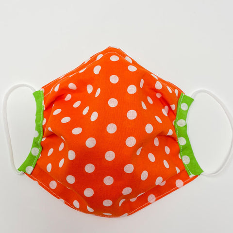 Face Mask - Orange Dot
