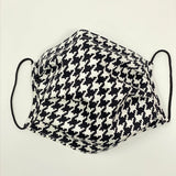 Face Mask - Black/White Houndstooth