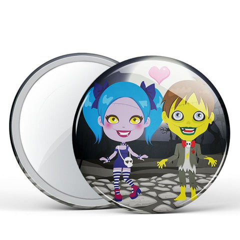 Made for Each Other Button Mirror