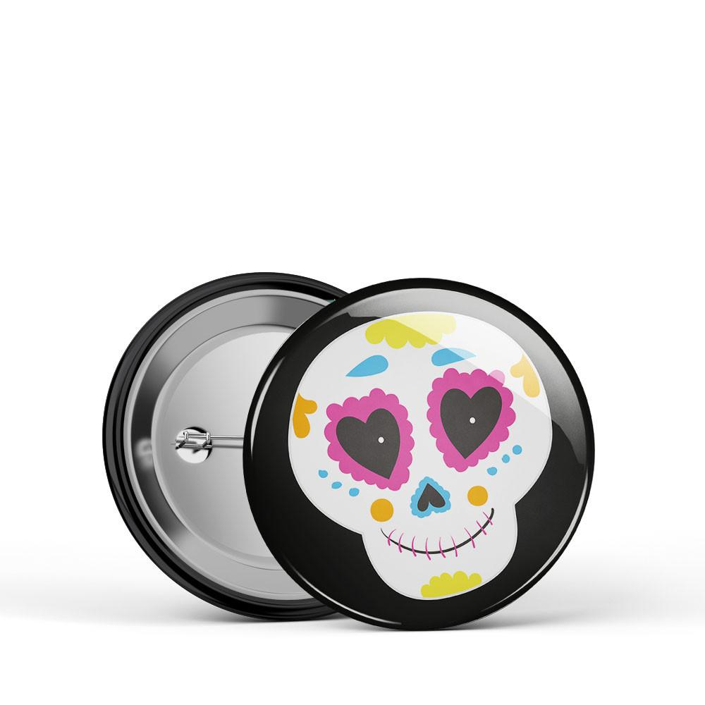 Sugar Skull 2 Button