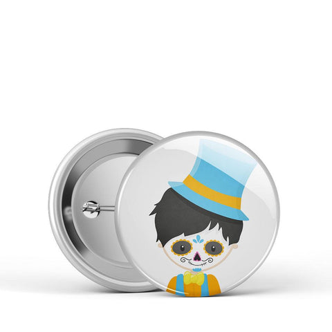 Sugar Skull Boy Button
