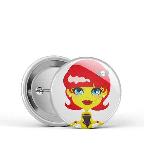 Zombie Gal Button