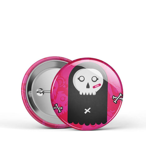 Pink Grim Button