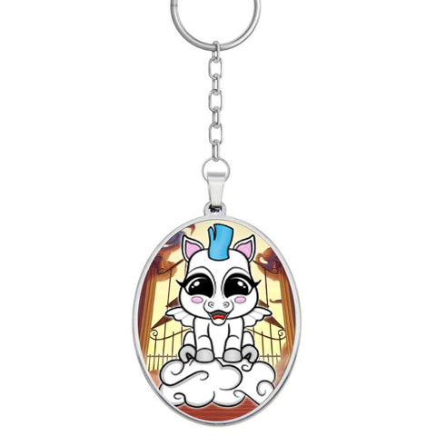 Baby Pegasus Framed Keychain