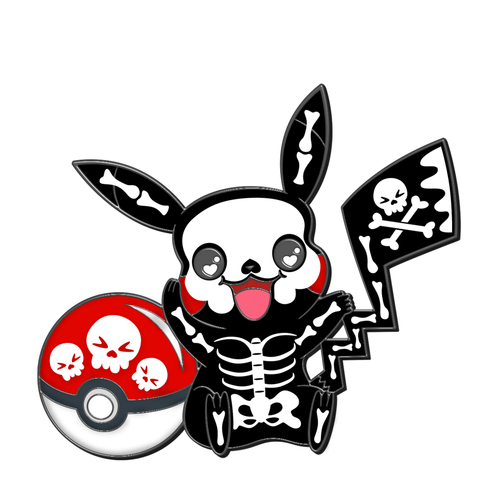 Skelly Pikachu Enamel Pin
