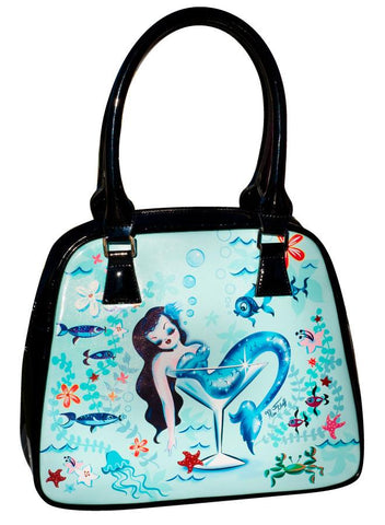 Martini Mermaids Trapezoid Purse